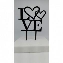 Pleksi Love Yazı Siyah