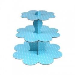 Karton Muffın Standı - Mavi
