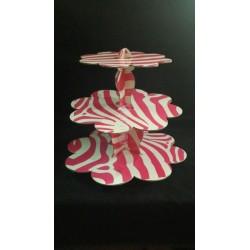 Pembe Zebra Muffin Standı
