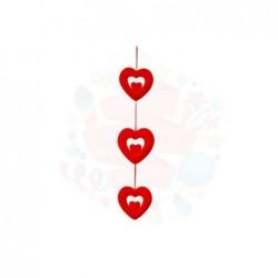 Strafor İç İçe 3 Lü Kalp...