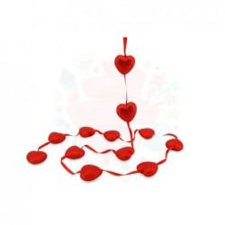 Küçük Simli Kalp Sarkıt 12...