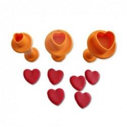 Kalp Basmalı Kopat Set 3 Lü