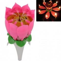 Müzikli Açılan Çiçek Mum