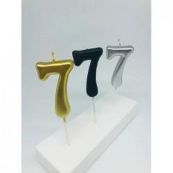 7 Cm Metalik Rakam Mum - 7 -