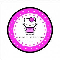 Sticker 12 Li Hello Kedi