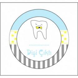 Sticker 12 Li Diş Mavi-Gri