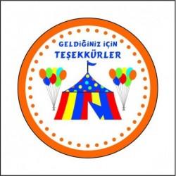 Sticker 12 Li Sirk Tema