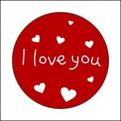Sticker 12 Li I Love You