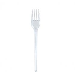 Plastik Çatal -Şeffaf 100 Lü