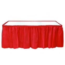 Plastik Kırmızı Masa Eteği