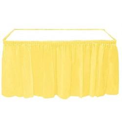 Plastik Sarı Masa Eteği