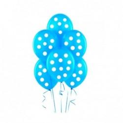 Mavi Puantiyeli Balon 100 Adet
