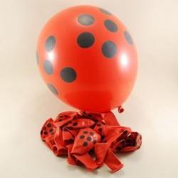 Kırmızı Siyah Puantiyeli Balon