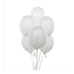Düz Renk Balon (Beyaz) 100...