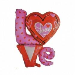 Folyo Balon Love 5 Li Set
