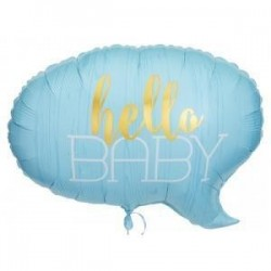 Hello Baby İts A Boy Folyo...