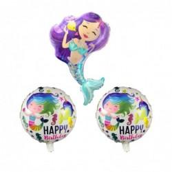 Deniz Kızı Tema Folyo Balon...