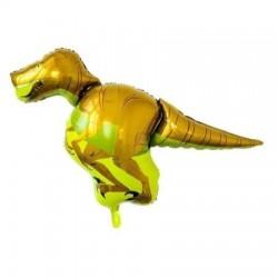 Sarı Dinozor Folyo Balon