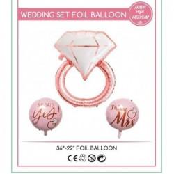 Wedding Yüzük Folyo Balon...