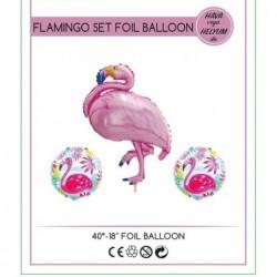 Flamingo Folyo Balon Set 3 Lü