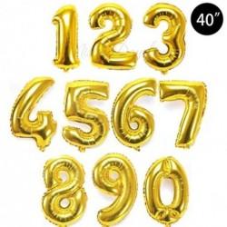 100 Cm Folyo Altın Rakam Balon