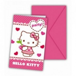 Hello Kitty Davetiye 6 Ad