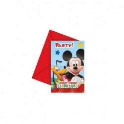 Mickey Mause Davetiye 6 Ad
