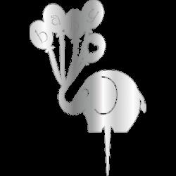 Pleksi Fil Baby Gümüş