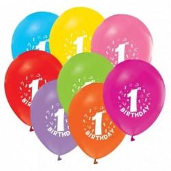 1 Yaş Karışık Renk Balon...