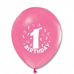 1 Yaş Pembe Balon 100 Ad