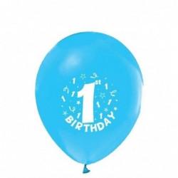 1 Yaş Mavi Balon 100 Ad