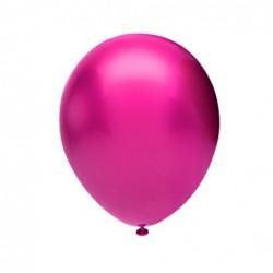 Metalik Balon Fuşya 100 Ad