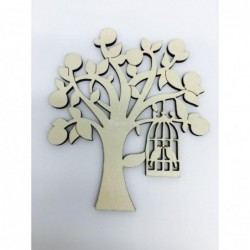 Kafesli Ağaç Ahşap Süs 10'lu